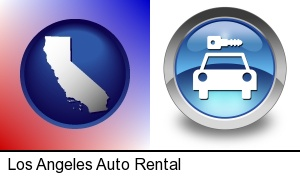 Los Angeles, California - an auto rental sign